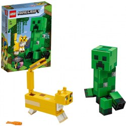 LEGO Minecraft 21156 Creeper BigFig si Ocelot
