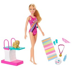 Mattel Barbie Dreamhouse Adventures GHK23 Papusa ,,Inotatoare''