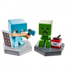 Mattel Minecraft GKT41 Set 2 mini-figurine de colectie
