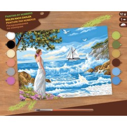 Sequin Art Paint by Numbers SQ1334 Набор для творчества ,,Whispering Shores