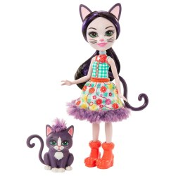 Mattel Enchantimals GJX40 Papusa ,,Ciesta Cat Climber''