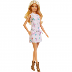 Mattel Barbie Fashionistas FXL52 Papusa ,,Pink Dress & Boots''