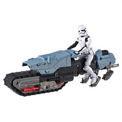 Hasbro Star Wars E3030 - Galaxy of Adventures First Order Driver and Treadspeeder Toy