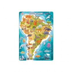 Dodo Toys Puzzle DPR300178 - ПАЗЛ С РАМКОЙ ЮЖНАЯ АМЕРИКА