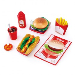 HAPE E3160B - Set de jucării Hape Kid's Fast Food Set