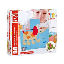 Hape E0452A Кубики-пазлы Friendship Puzzle Blocks