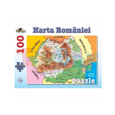 Noriel Nor4674 Puzzle Harta Romaniei 100 Piese