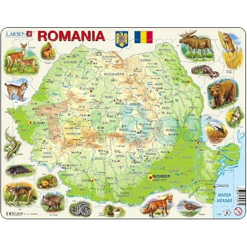 Cutia LRS-22167 K67 - ROMANIA PHYSICAL WITH ANIMALS (ROMANIA)