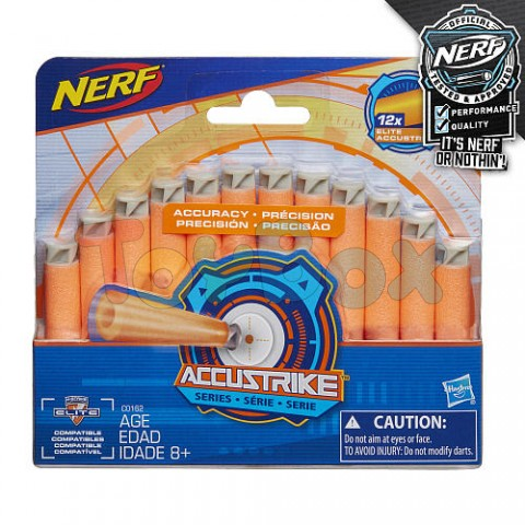 Hasbro Nerf C0162 Нерф Набор патронов для бластера N-Strike Elite AccuStrike 12 штук
