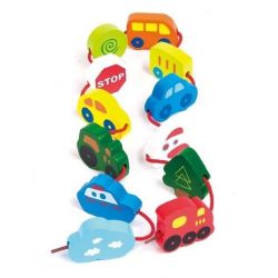 "Hape E0905B Set de figurine din lemn ""Transport"""