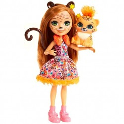 Mattel Enchantimals FJJ20 Papusa Enchantimals Cherish Gepardi, 15 cm