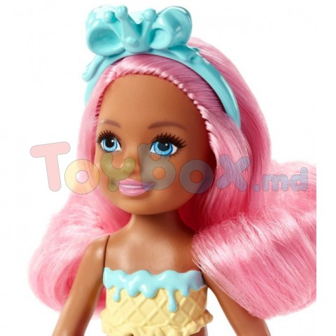 Mattel Barbie FKN03 Barbie Dreamtopia mini papusa sirena, 15 cm