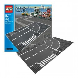 Lego City Supplementary 7281 Intersectie in T si curbe