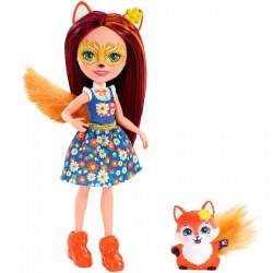 Mattel Enchantimals FXM71 Papusa figurina de joacă Felicity Fox new, 15 cm