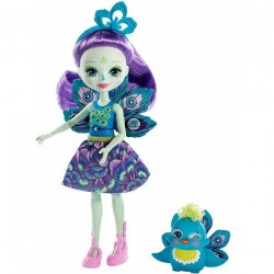 Mattel Enchantimals FXM74 Papusa figurina de joacă Patter Peacock new, 15 cm