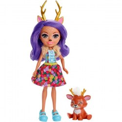 Mattel Enchantimals FXM75 Papusa figurina de joacă Danessa Deer new, 15 cm