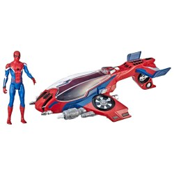 Hasbro E3548 Set de joaca, Nava Cu Lansator Si Figurina Spiderman Far From Home