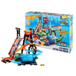 Mattel Hot Wheels  FTB67 Set de joaca Hot Wheels, Ultimate Gator Car Wash