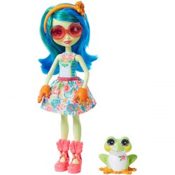 Mattel Enchantimals GFN43 Papusa Tamika Tree Frog si Burst