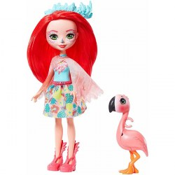 Mattel Enchantimals GFN42 Papusa Fanci Flamingo si Swash