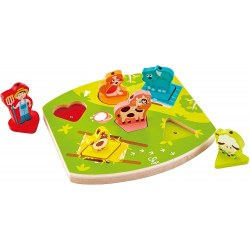 HAPE E1614A Joc - Puzzle Sounds Farm