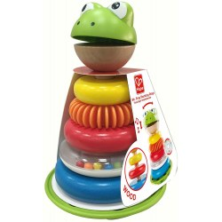 "HAPE E0457A Piramida ""Mr. Frog Stacking Rings"""